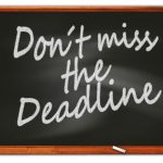 Don't miss the deadline!